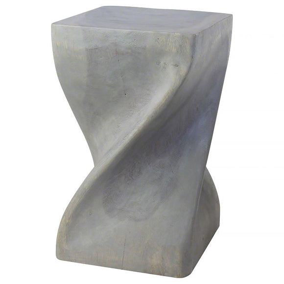 Haussmann® Big Twist Stool 12 inch SQ x 20 inch H Agate Grey Oil