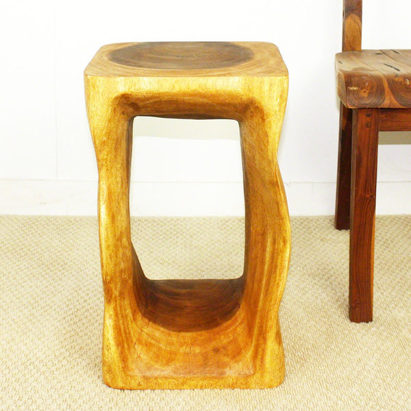 Haussmann® Natural Wood End Table Stool 12x12x20 inch Hgt in Eco Friendly Livos Oak Oil Fin