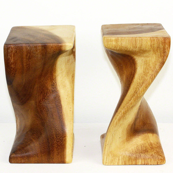 Haussmann® Mini Wood Single Twist Stool 4 X 4 X 8.25 In H Livos Clr Oil, Set Of 2