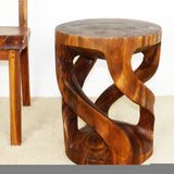 Haussmann® Tapered Round Wild Twisted Vine 16 D X 20 In H End Table Walnut Oil