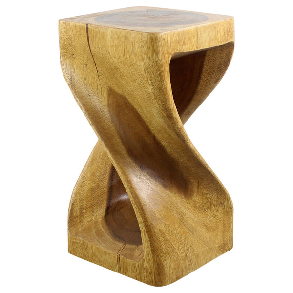 Haussmann® Original Wood Twist Stool 10 X 10 X 18 In High Oak Oil