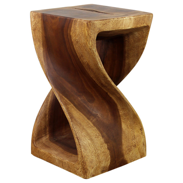 Haussmann® Original Wood Twist Stool 12 X 12 X 20 In High Oak Oil