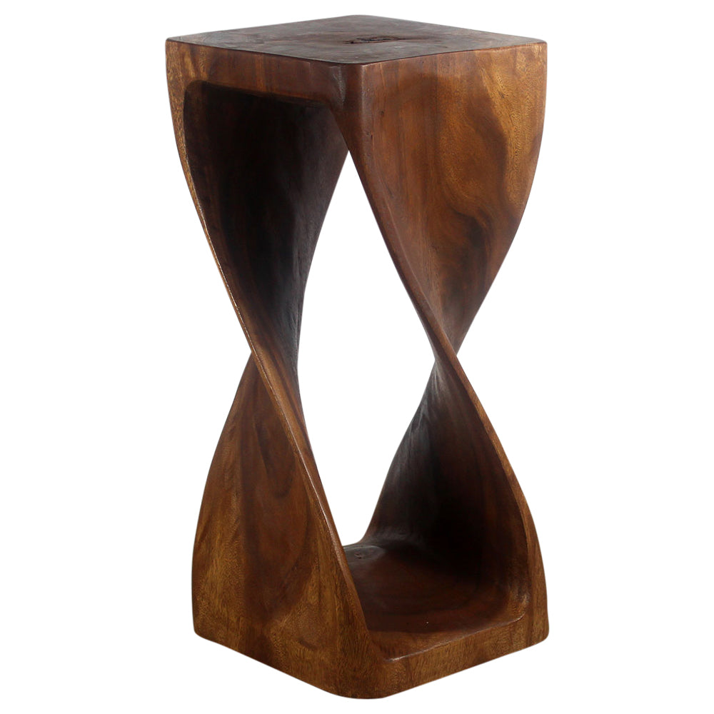 Haussmann® Original Wood Twist Stool 12 X 12 X 26 In High Walnut Oil