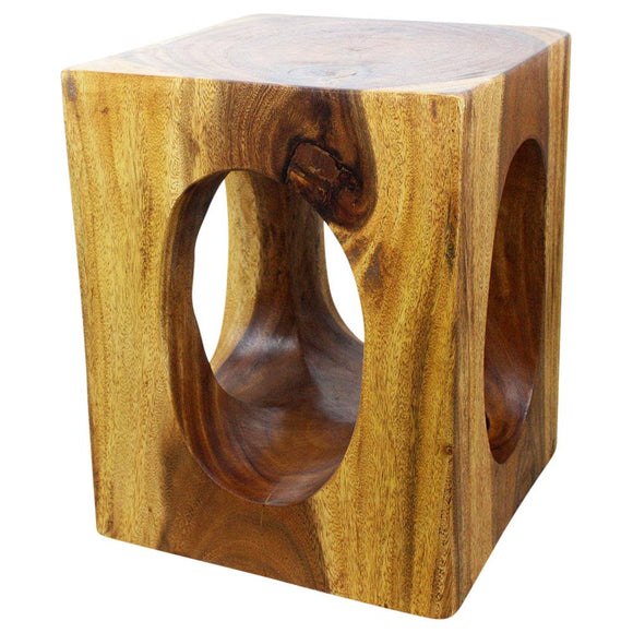 Haussmann Windows Cube 16 In X 20 In H Wood End Table Eco Livos Walnut Oil