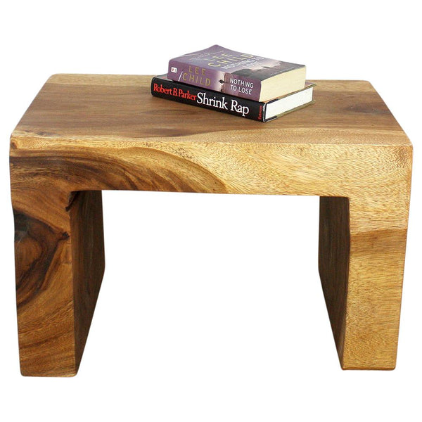 Haussmann® Waterfall Table Sustainable Wood 24L X 16D X 16 In H Livos Walnut Oil