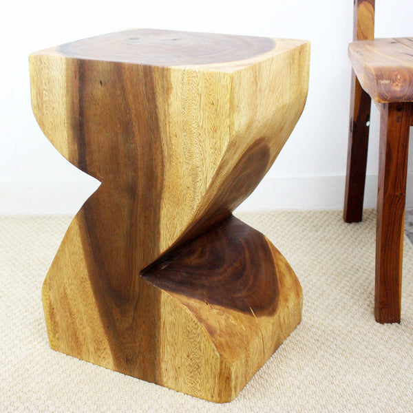 Haussmann® Zat End Table 12 X 14 X 20 In High Sustainable Wood Livos Walnut Oil