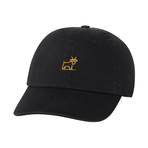 Capra Dad Hat - Black/Gold
