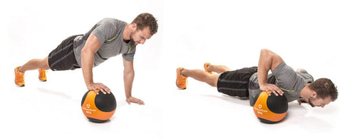 Medicine Ball - One hand push up