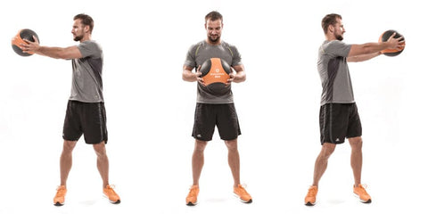 Medicine Ball Training Upper Body Rotation