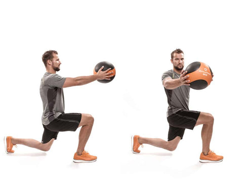 Medicine Ball - Lunge with Rotation