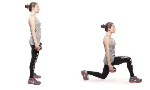Training at home - lunge