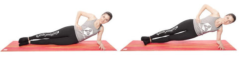 Training at home - Side plank
