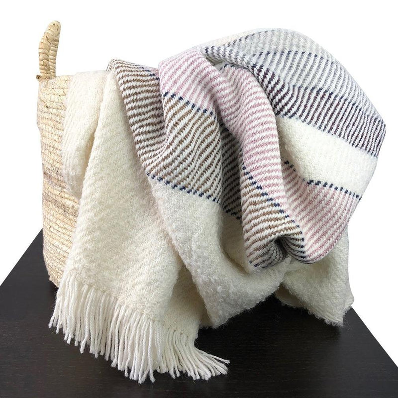 MAYRA Handmade Alpaca & Wool Throw Blanket - Artes Del Mundo