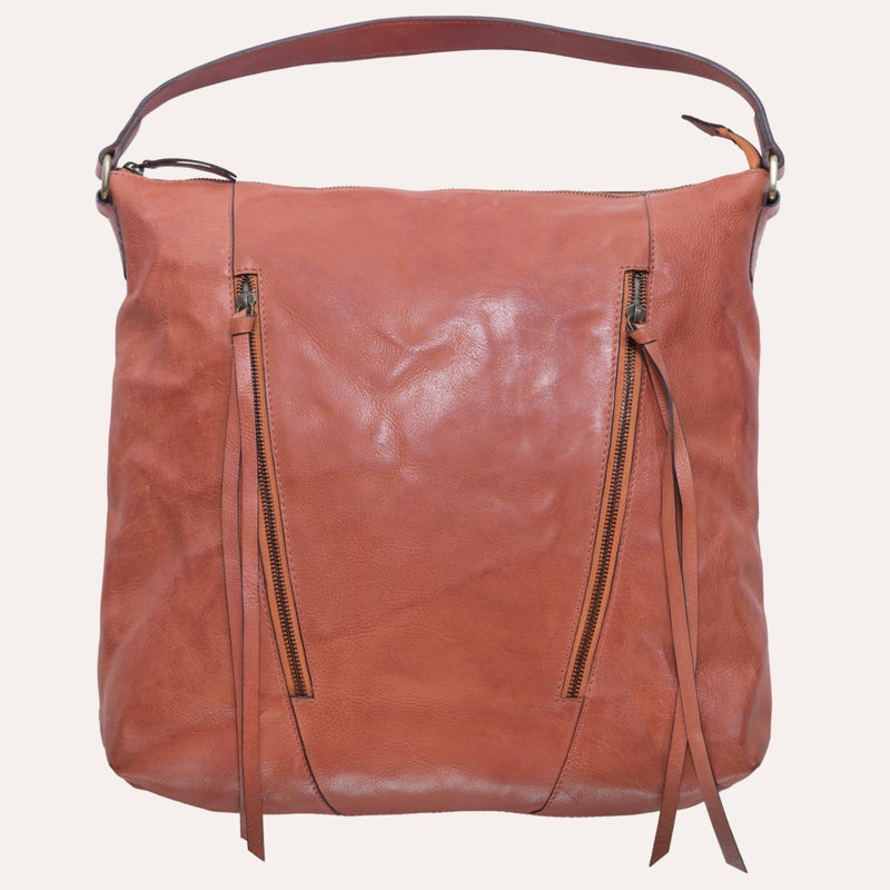 SAFARI Handmade Brown Leather Tote Bag - Artes Del Mundo