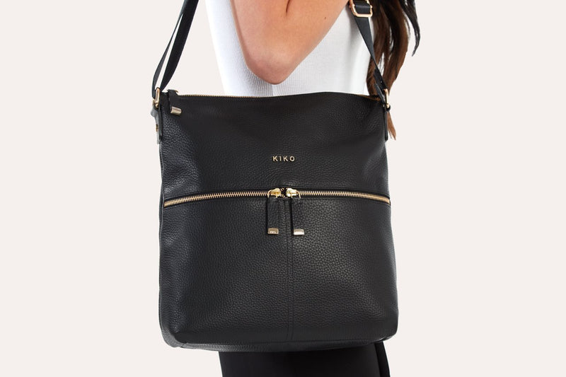 ZIP Handmade Pebble Leather Tote Bag - Artes Del Mundo