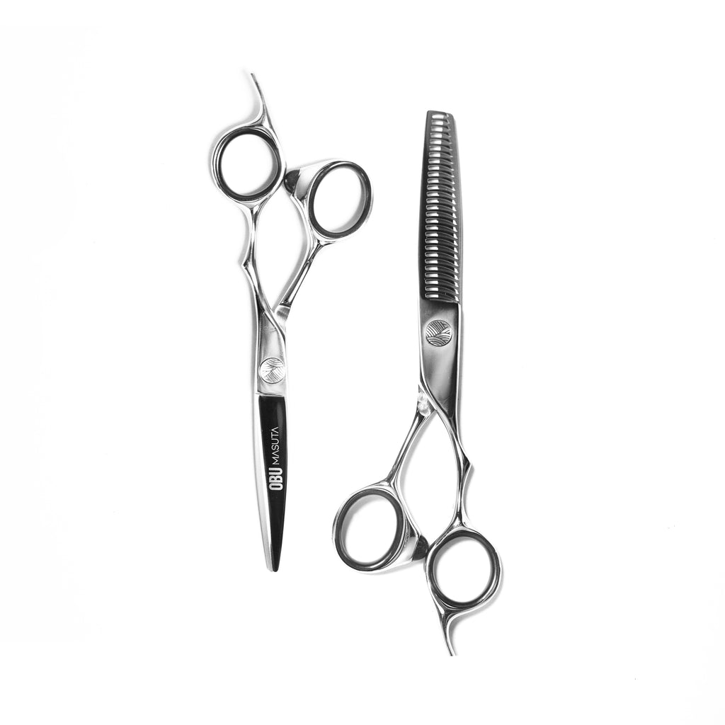 Best Japanese steel hairdressing hair barber scissor sets. OBU.