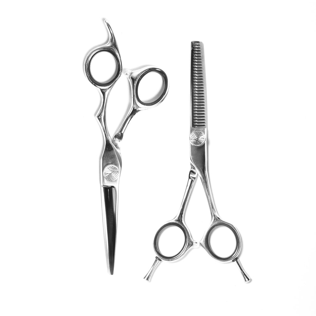 Best Japanese steel apprentice hairdressing hair barber scissor sets. OBU.