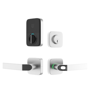 Bluetooth Enabled Fingerprint & Key Fob Two-Point Smart Lock w/Deadbolt and Bridge