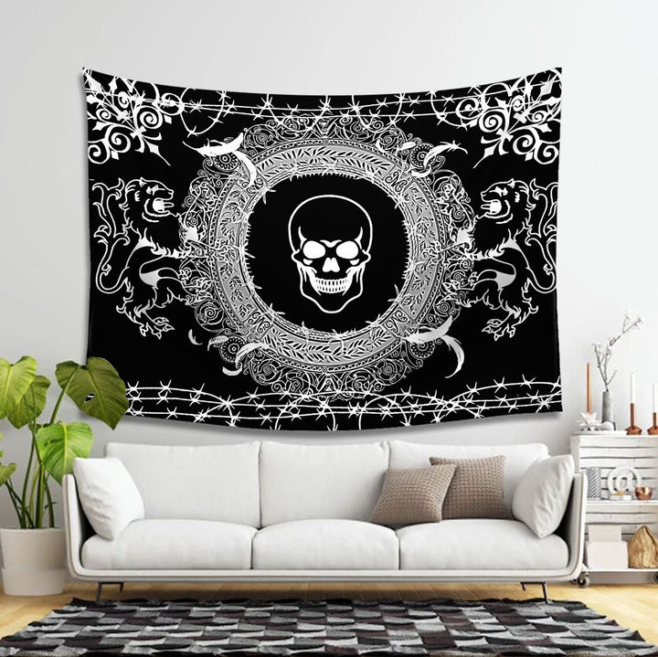 Goth Skull Taspetry Tapestry - 4 Holes / S (27.6 X 39.4 Inches 2.3 3.2 Feet) Vn903