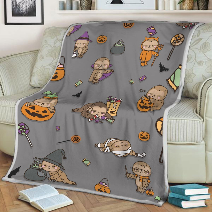 Sloth Halloween Blanket / S (51 X 59 Inches - 4 5 Feet ) G37