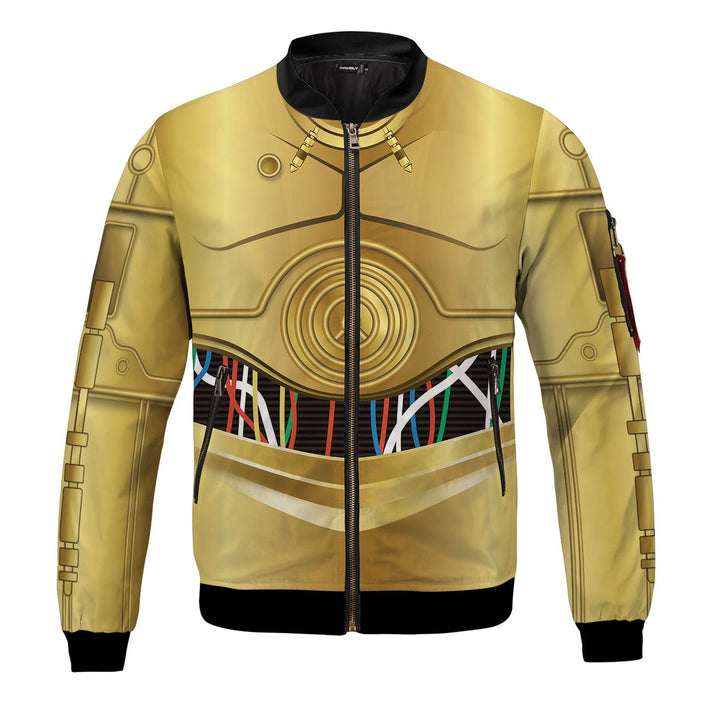 3D C 3PO All Over Print Bomber Jacket