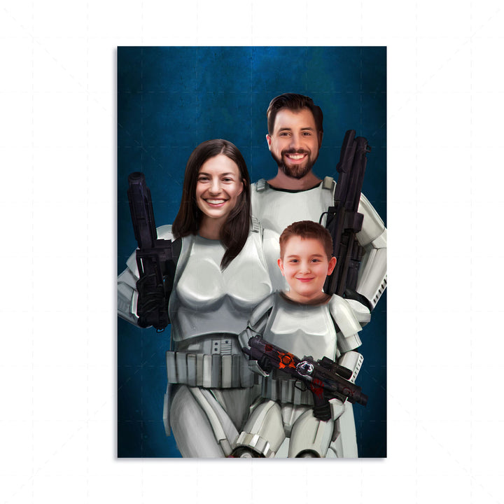 Stormtropper Family Custom Digital Portrait