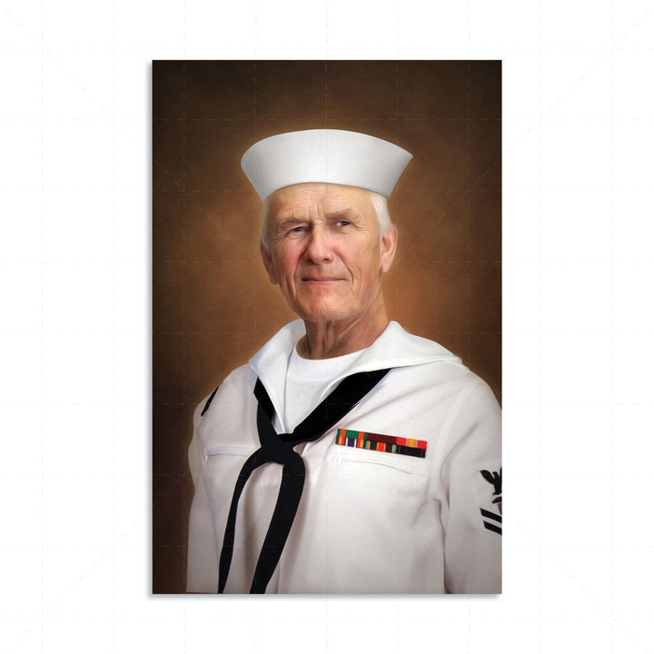 Us Navy Enlisted Dress Uniform Single Digital Portrait