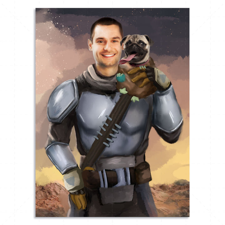 Customized Digital File  Beska Mandalorian And Pet