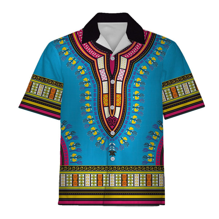 African Dashiki Hawaiian Shirt / S Qr598
