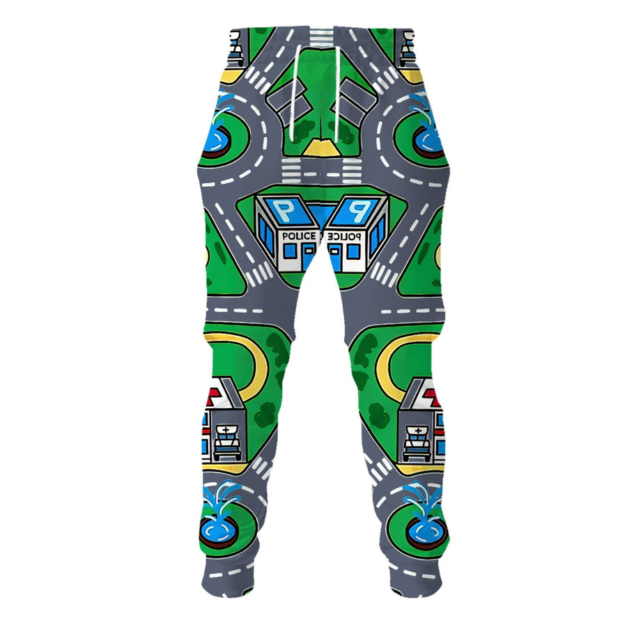 Vn527 Kid Carpet Shirt Sweatpants / S