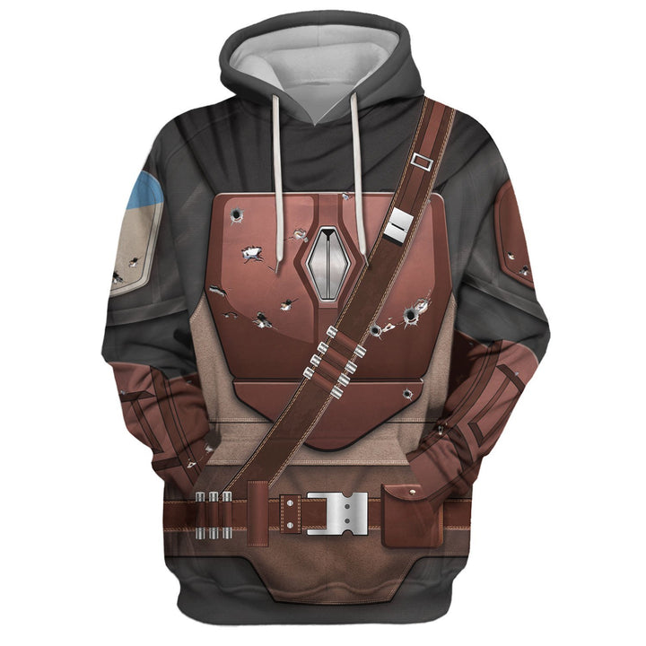 3D Mando All Over Print Qm82 Hoodie / S