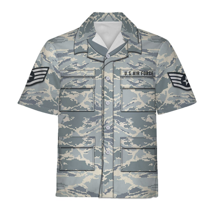 Us Air Force Airman Battle Uniform Hawaiian Shirt / S Qm751