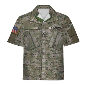 United States Army Combat Uniform Hawaiian Shirt / S Qm753