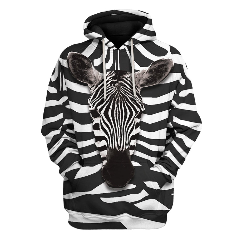 Zebra All Over Print Hoodie / S An16220