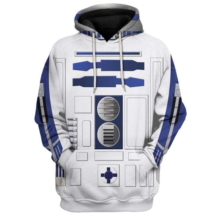 3D R2 D2 All Over Print Hp50 Hoodie / S