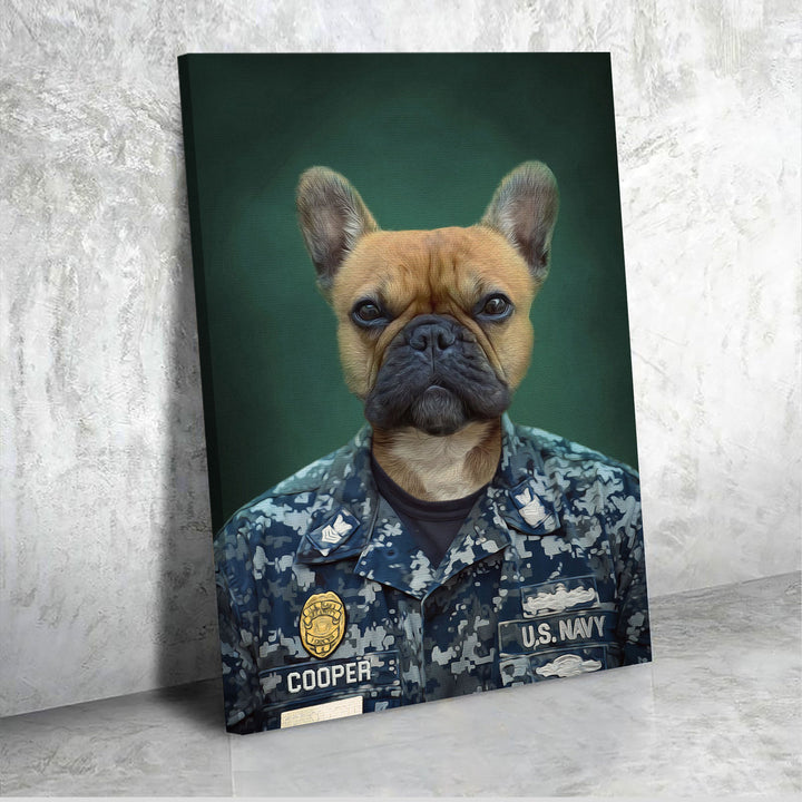 US Navy Army Chef - Custom Pet Canvas