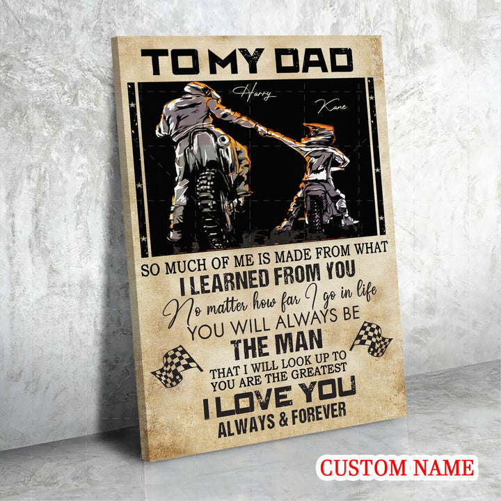 Customized Canvas Father And Son To My Dad