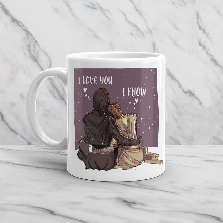 Ben And Rey Star Wars Valentine Mug