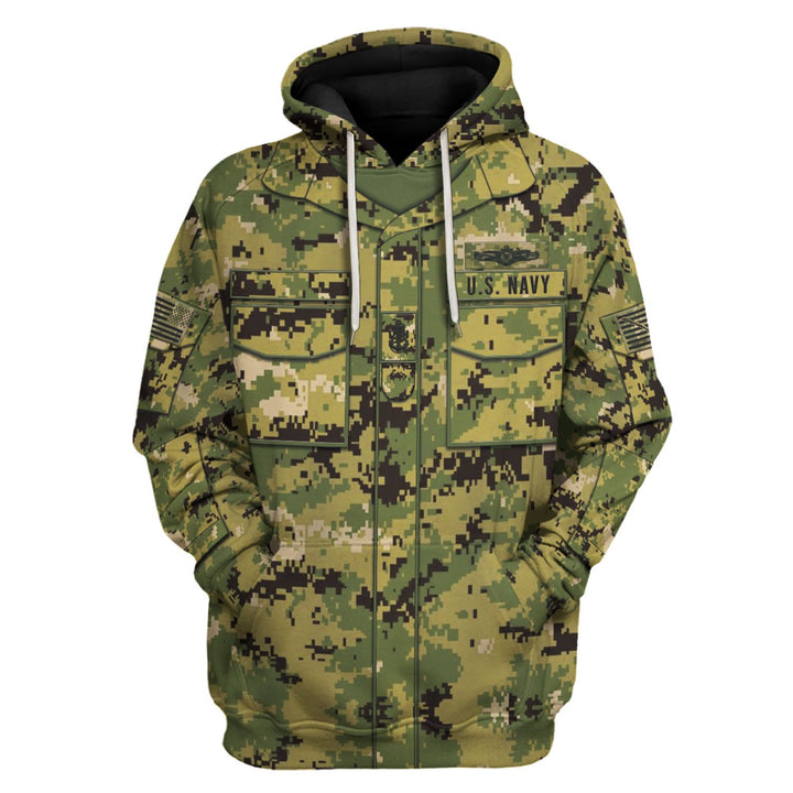 Navy Working Uniform Type Iii Hoodie / S Vn250