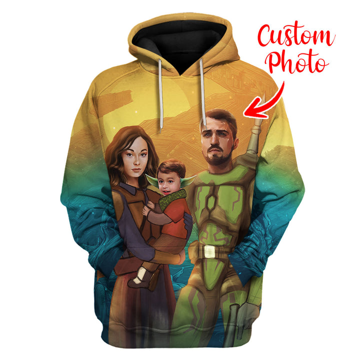 Personalized Hoodie Family Custom Photos Portrait