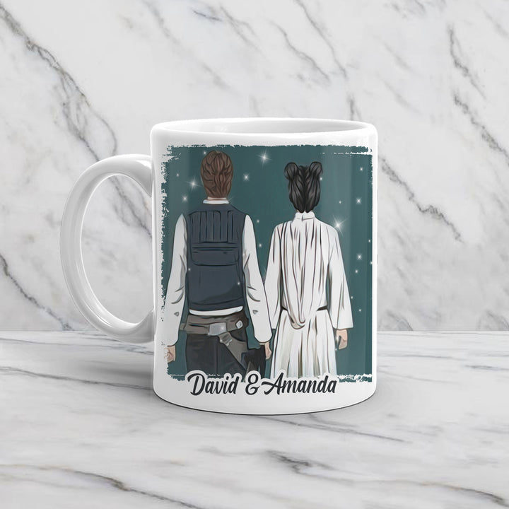 Han Solo and Princess Leia Valentine Gift Mug