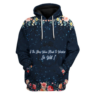 If The Stars Were Made To Worship So Will I Hoodie / S Qr702