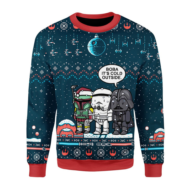 Boba Its Cold Outside Ugly Christmas Sweater / S Qm1825