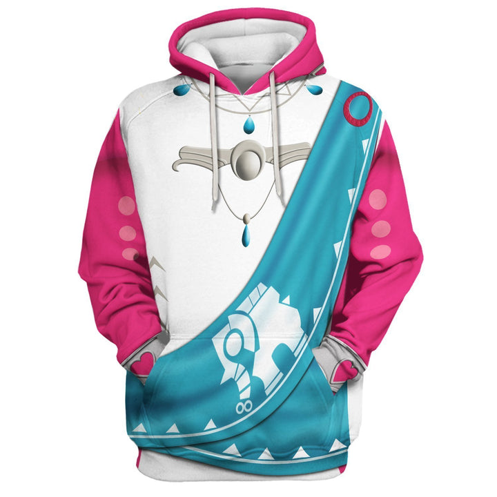 Princess Mipha All Over Print Hoodie / S Qm105