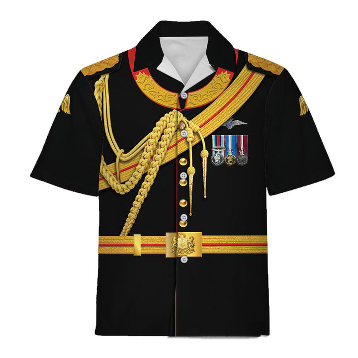 Prince Harry Hawaiian Shirt / S Qm740