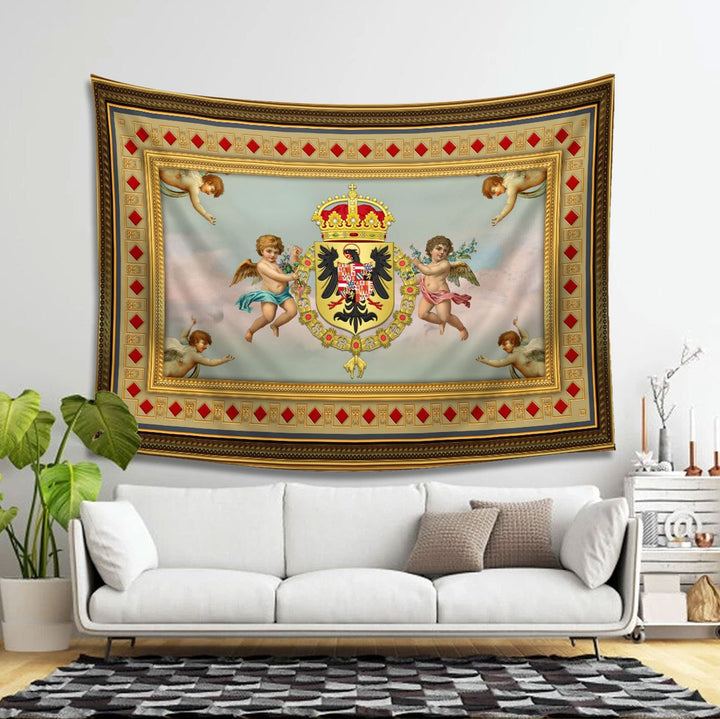 Coat Of Arms Charles V Habsburg Tapestry Carpet - 2 Holes / S (29.5 X 35.4 Inches 2.5 X 3 Feet)