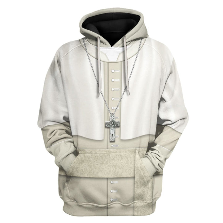 Pope Franciss Everyday Attire Hoodie / S Vn330