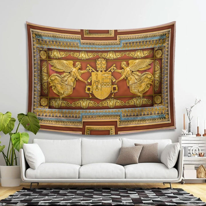 Gregory Xvi Coat Of Arms Tapestry Qm1435 - 4 Holes / S (27.6 X 39.4 Inches 2.3 3.2 Feet)