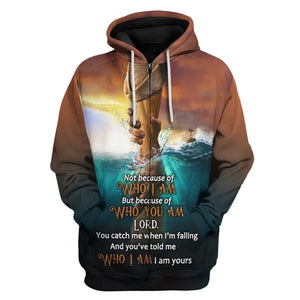 Not Because Of Who I Am But You Are Zip Hoodie / S Vn750