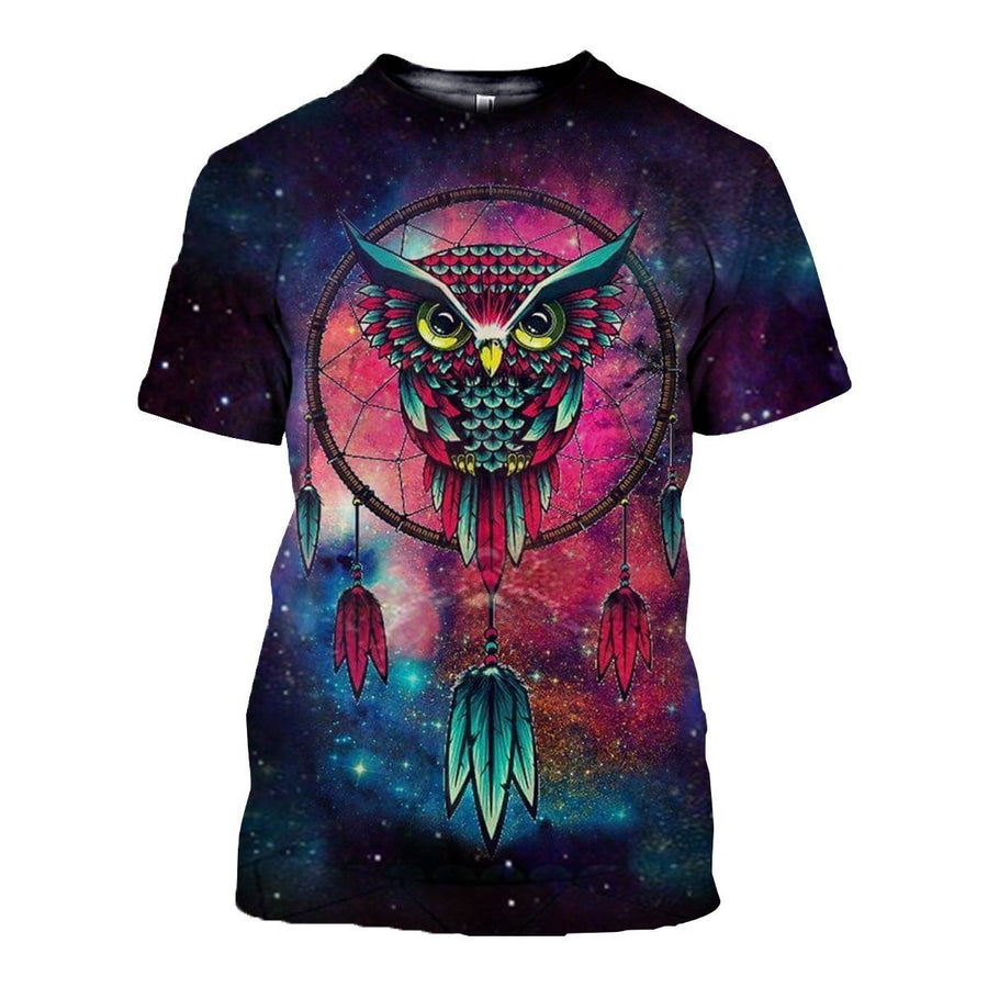 Gearhomies 3D Custom Shirt Hoodies Hypnotic Owl Apparel S / T Shirt